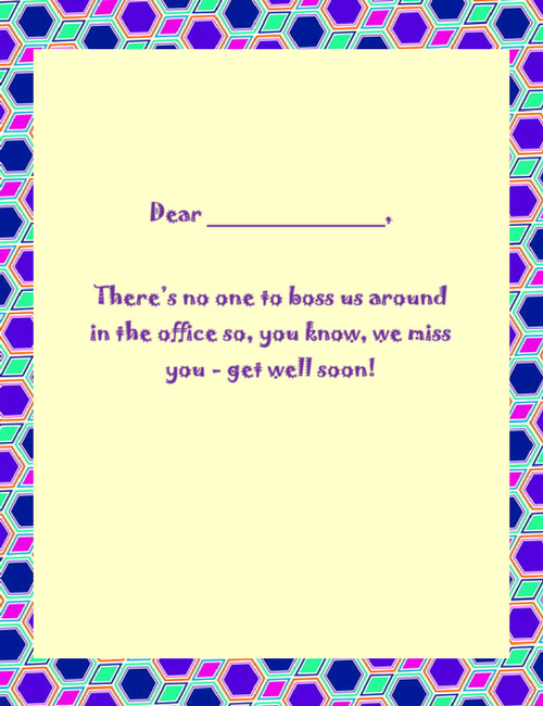 Get Well Cards Wording Free Geographics Word Templates - Get well card template