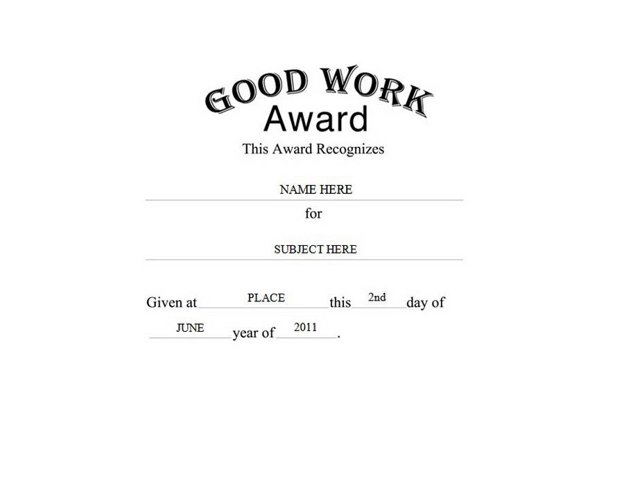 Awards | Free Templates Clip Art & Wording | Geographics