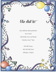 graduation  free suggested wording by theme  geographics, Quinceanera invitations