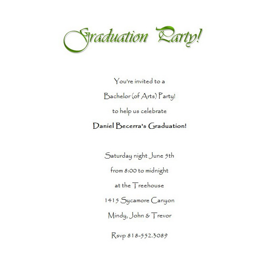 Graduation party invitations 3 wording free geographics for Free graduation party invitation templates for word