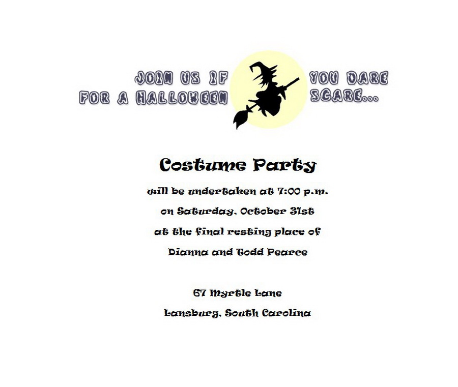 Halloween   Free Suggested Wording by Holiday   Geographics
