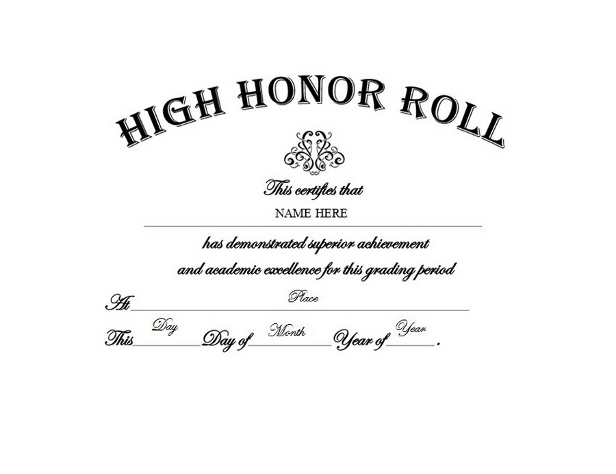 High Honor Roll Free Templates Clip Art Wording Geographics