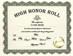 a b honor roll certificate template - awards free templates clip art wording geographics