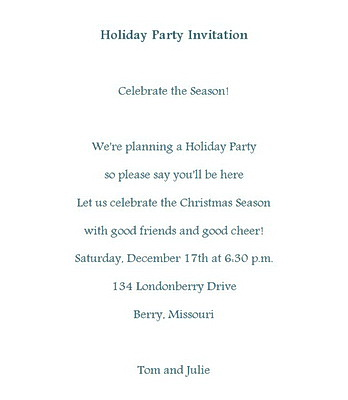 wording for christmas party