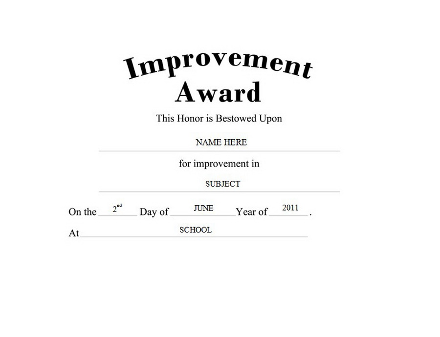 Improvement award free templates clip art wording geographics improvement award clip art wording yadclub