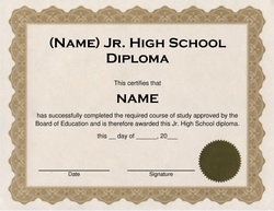 High school diploma for homeschool free high school for Free high school diploma templates