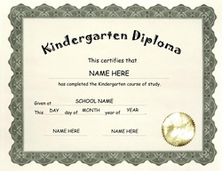 kindergarten graduation certificate wording  Award Certificates Diploma Word Templates | Clip Art Wording ...