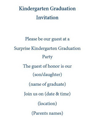 kindergarten graduation invitations wording free geographics word