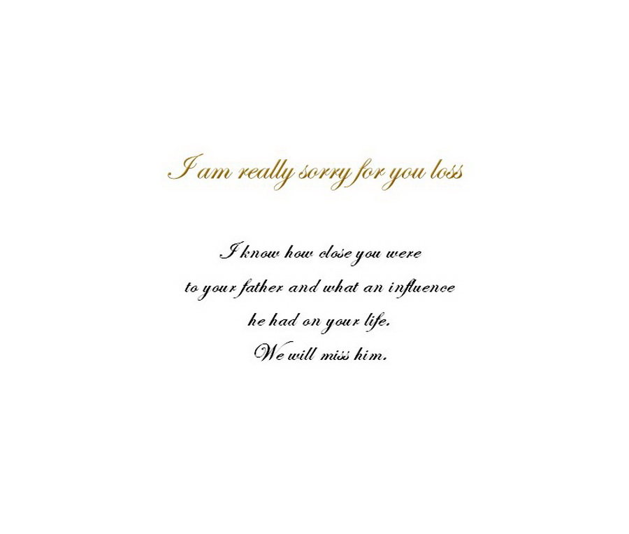 Loss Of A Father Sympathy Cards 1 Wording