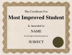 Most Improved Student Certificate Clip Art 2 U0026 Wording  Certificate Word Template