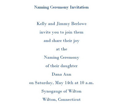 Naming Ceremony Invitations Wording | Free Geographics Word Templates
