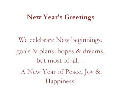 New Year Greeting Cards Wording | Free Geographics Word Templates
