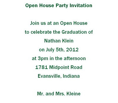 Open house party invitations wording free geographics word templates open house party invitations wording stopboris Images