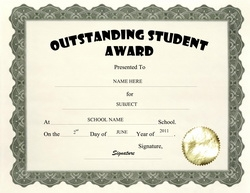 Awards free templates clip art wording geographics outstanding student award clip art wording yadclub Images