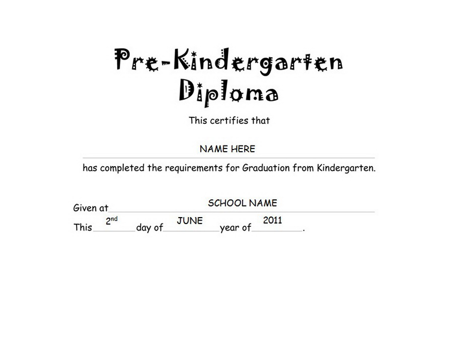 pre kindergarten diploma free templates clip art wording geographics