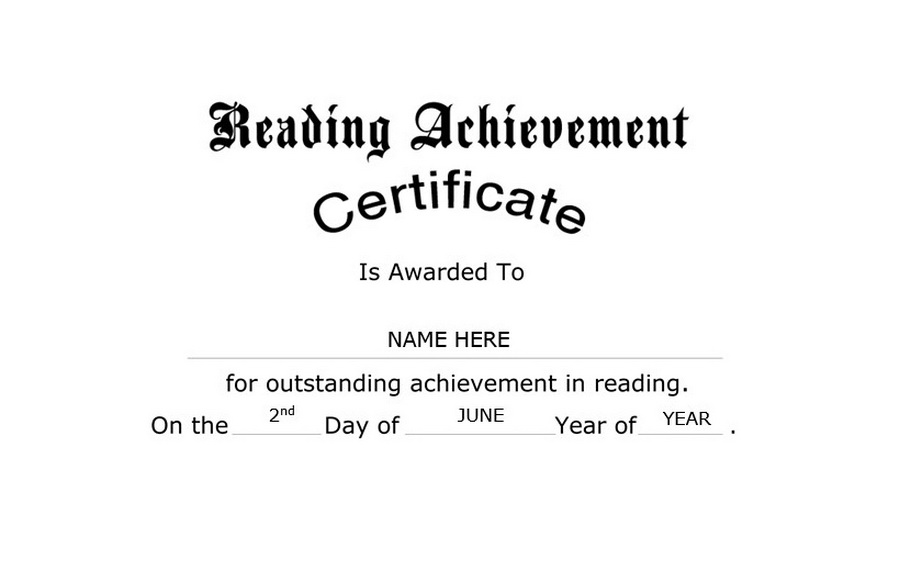 Reading achievement certificate free templates clip art wording reading achievement certificate clip art wording yelopaper Gallery