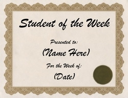 Awards free templates clip art wording geographics for Student of the week certificate template free