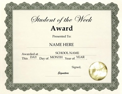 Award certificates diploma word templates clip art wording student of the week award clip art wording yadclub Choice Image