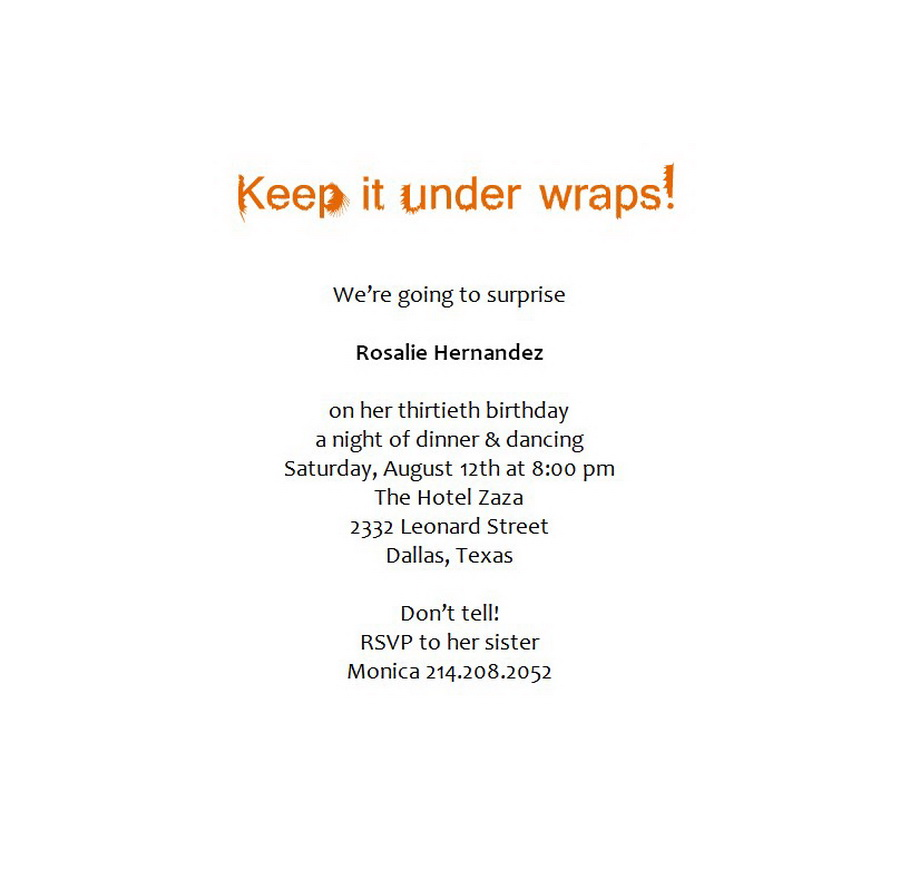 Surprise Birthday Party Invitations Wording 6