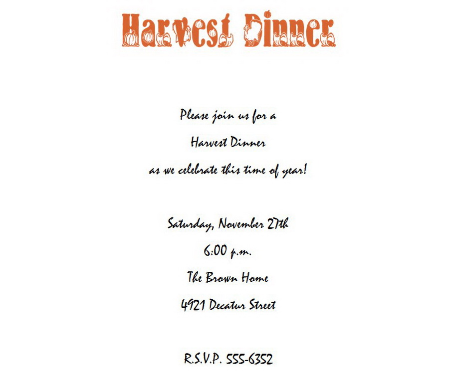 Thanksgiving dinner invitation 6 wording free geographics word templates for Thanksgiving invitation templates free word