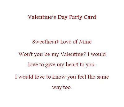 Valentines Day Free Suggested Wording by Holiday – Valentine Card Wording
