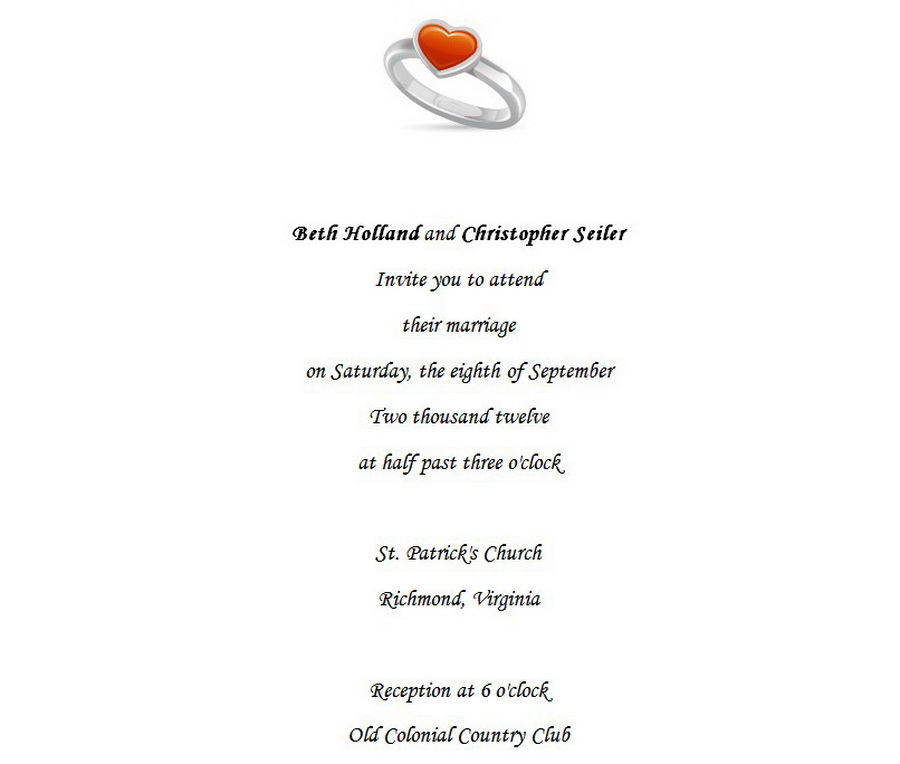 Wedding | Free Suggested Wording by Theme | Geographics | 2