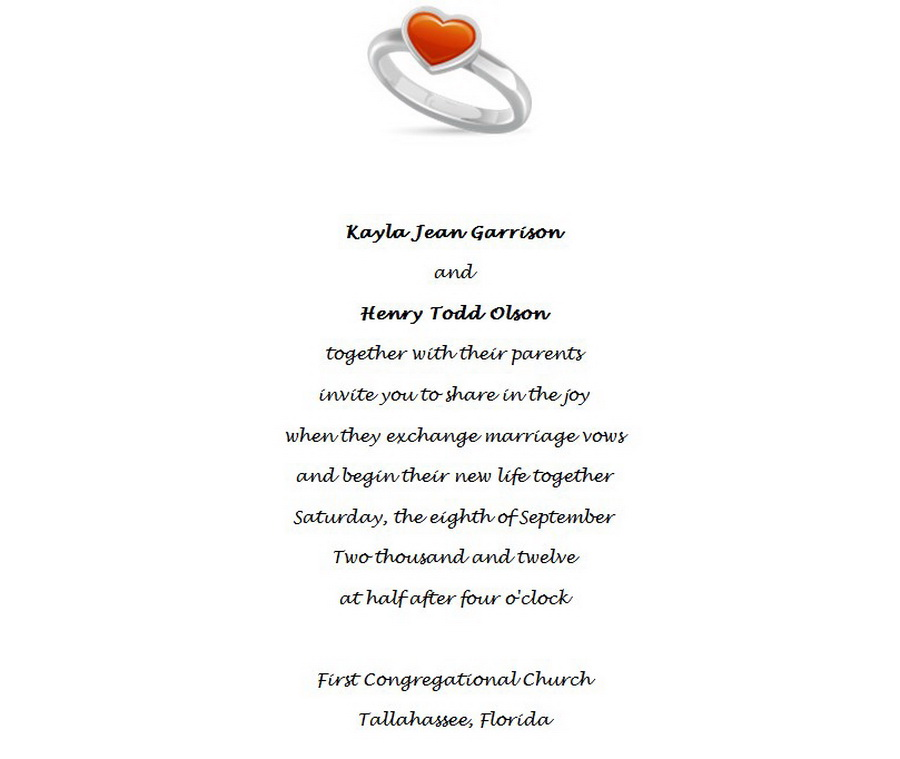 Wedding Invitations Bride Groom Both Parents 1 Wording | Free ...