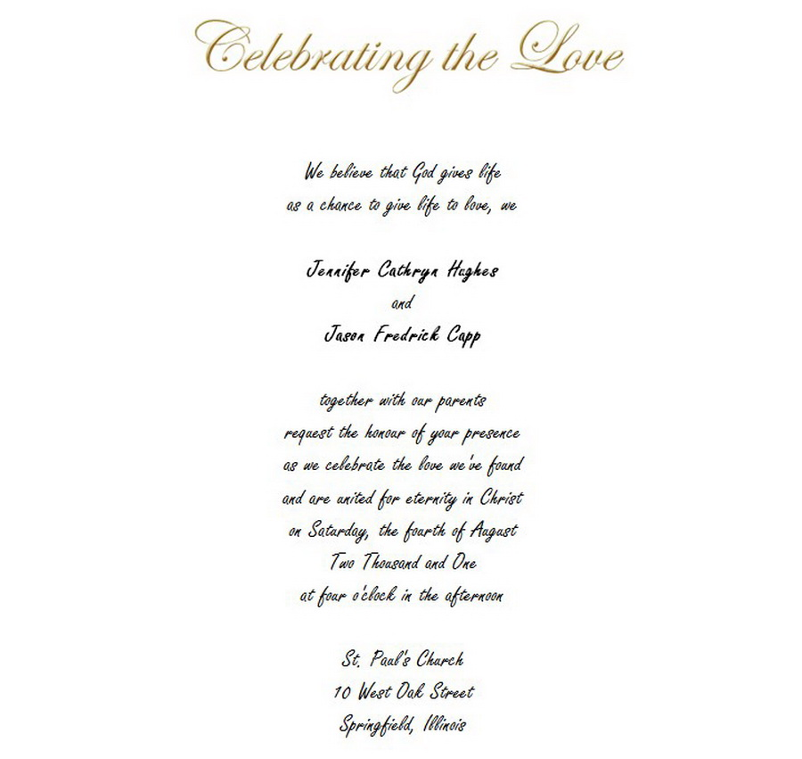 Wedding Invitations Bride Groom Both Parents 6 Wording