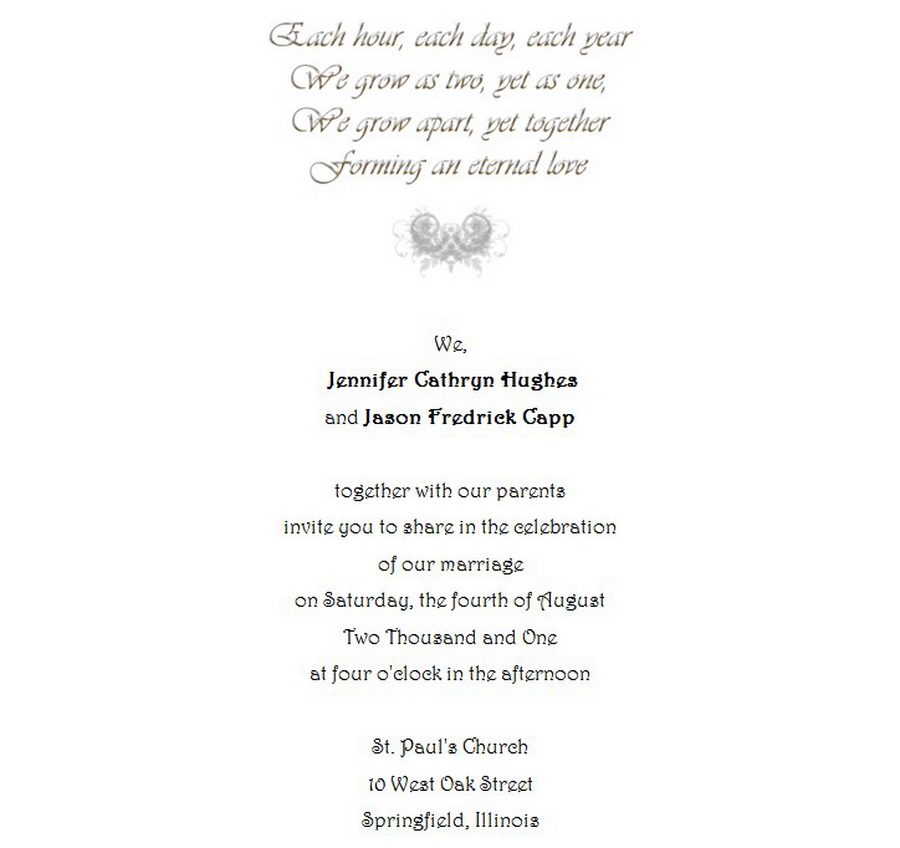 Wedding Invitations Bride Groom Both Parents 8 Wording