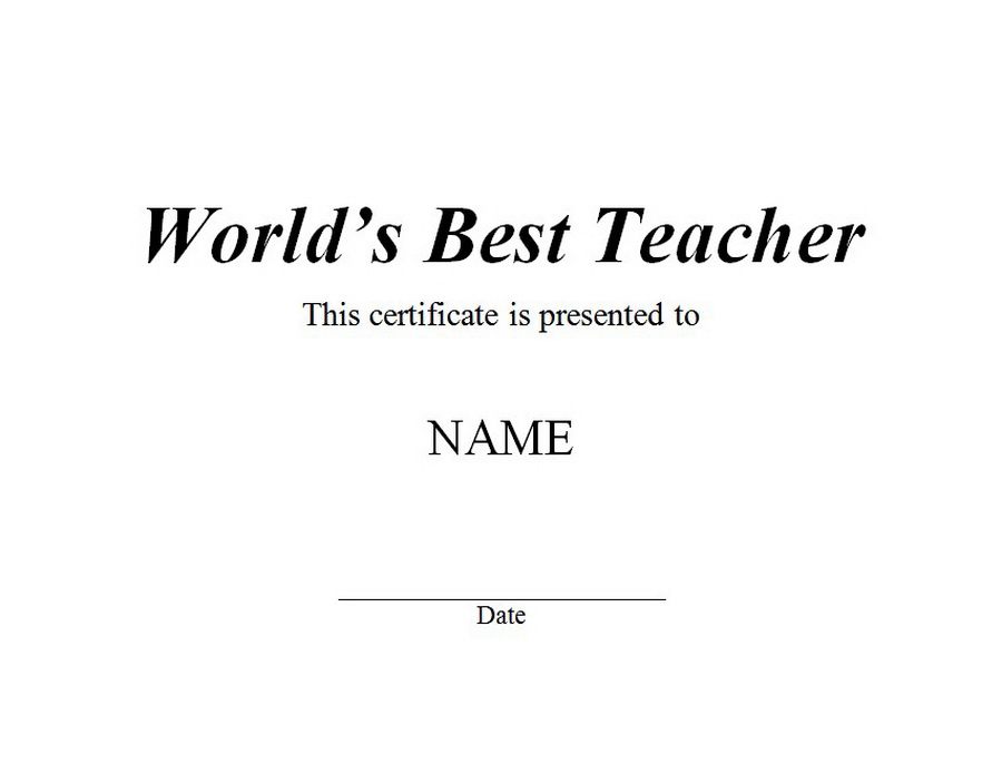 Worlds best teacher certificate free word templates customizable worlds best teacher certificate clip art wording yelopaper