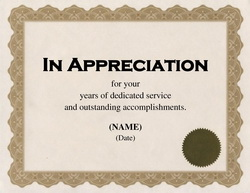 appreciation certificates template