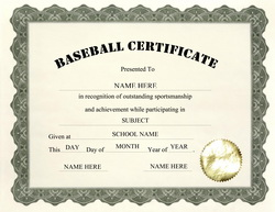 Baseball Certificate Templates For Word | just b.CAUSE