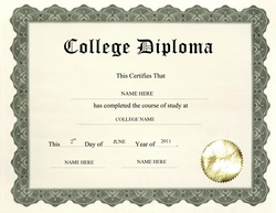 Free College Diploma Templates 57