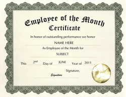 Effortless image pertaining to free printable employee of the month certificate templates