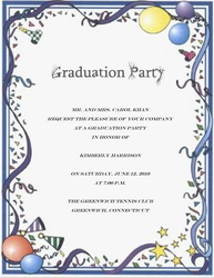 Graduation party invitation words templates clip art for Free graduation party invitation templates for word