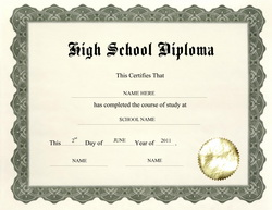 image about Printable High School Diploma referred to as Substantial University Degree: Print Superior Faculty Degree