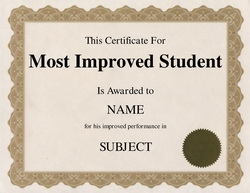 most improved certificate template