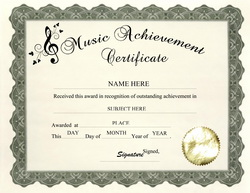 Music award certificate templates free yadclub Choice Image